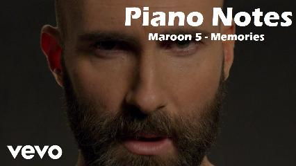 Maroon 5 - Memories Piano Notes with Tutorial Video | Easy Mobile Piano Notes | Jarzee Entertainment